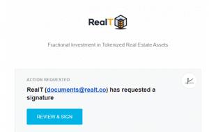 RealT signed document